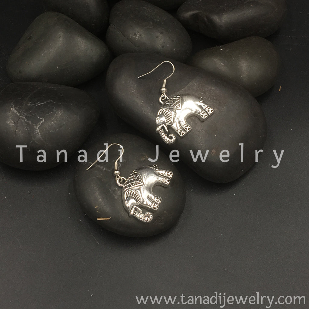 Trendy Oxidised Earrings - 2