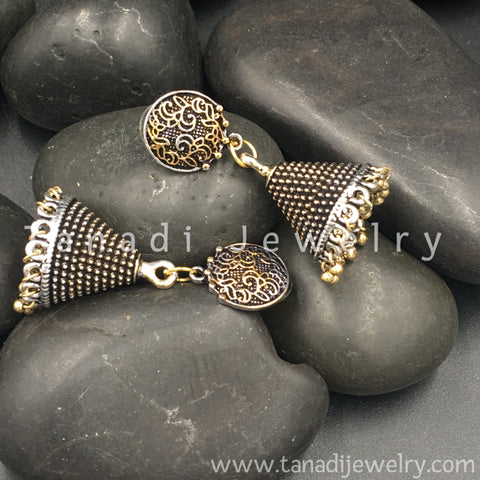 Dual Tone Earrings - 1