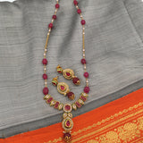 Necklace with pearl drop pendant