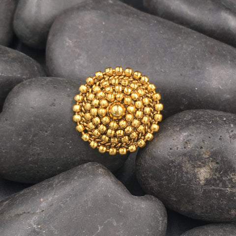 Finger Ring - Round Golden