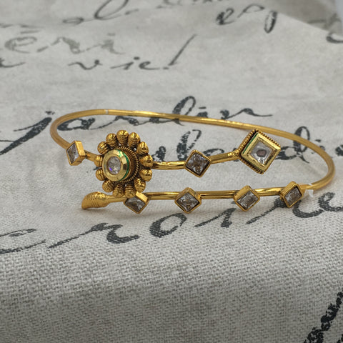 Armlet with Flower and Square Stones