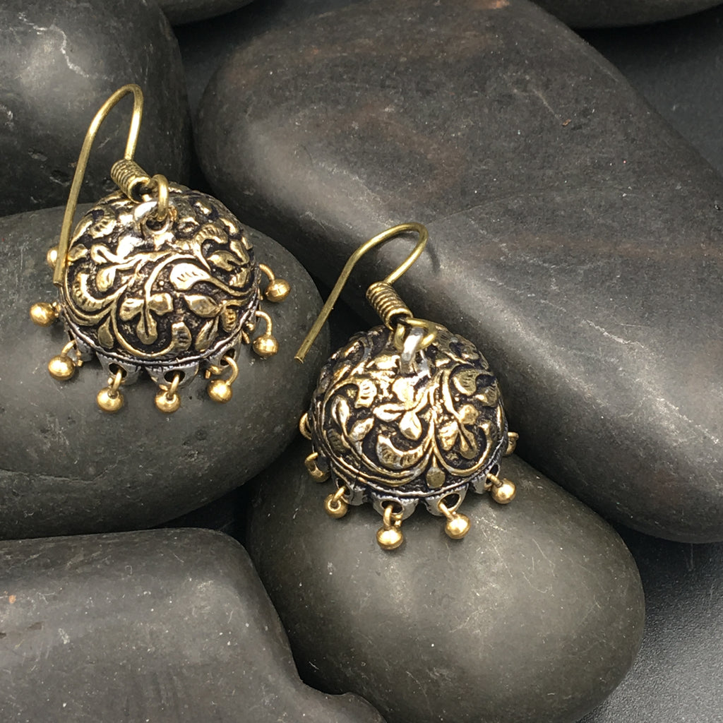 Dual Tone Earrings - 4