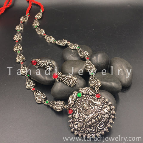 Long Oxidised Necklace - Mayur - 5