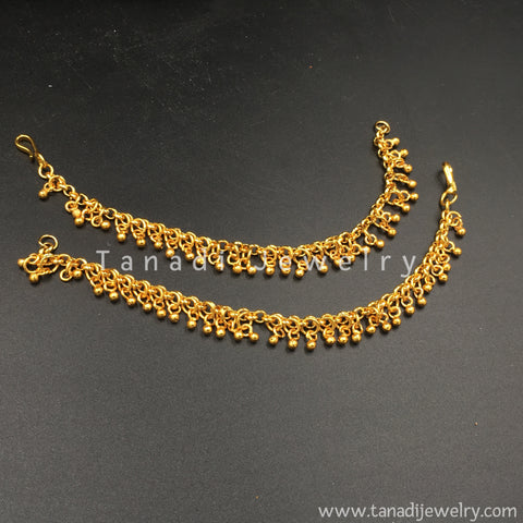 Golden Ear Chain with Golden cluster line