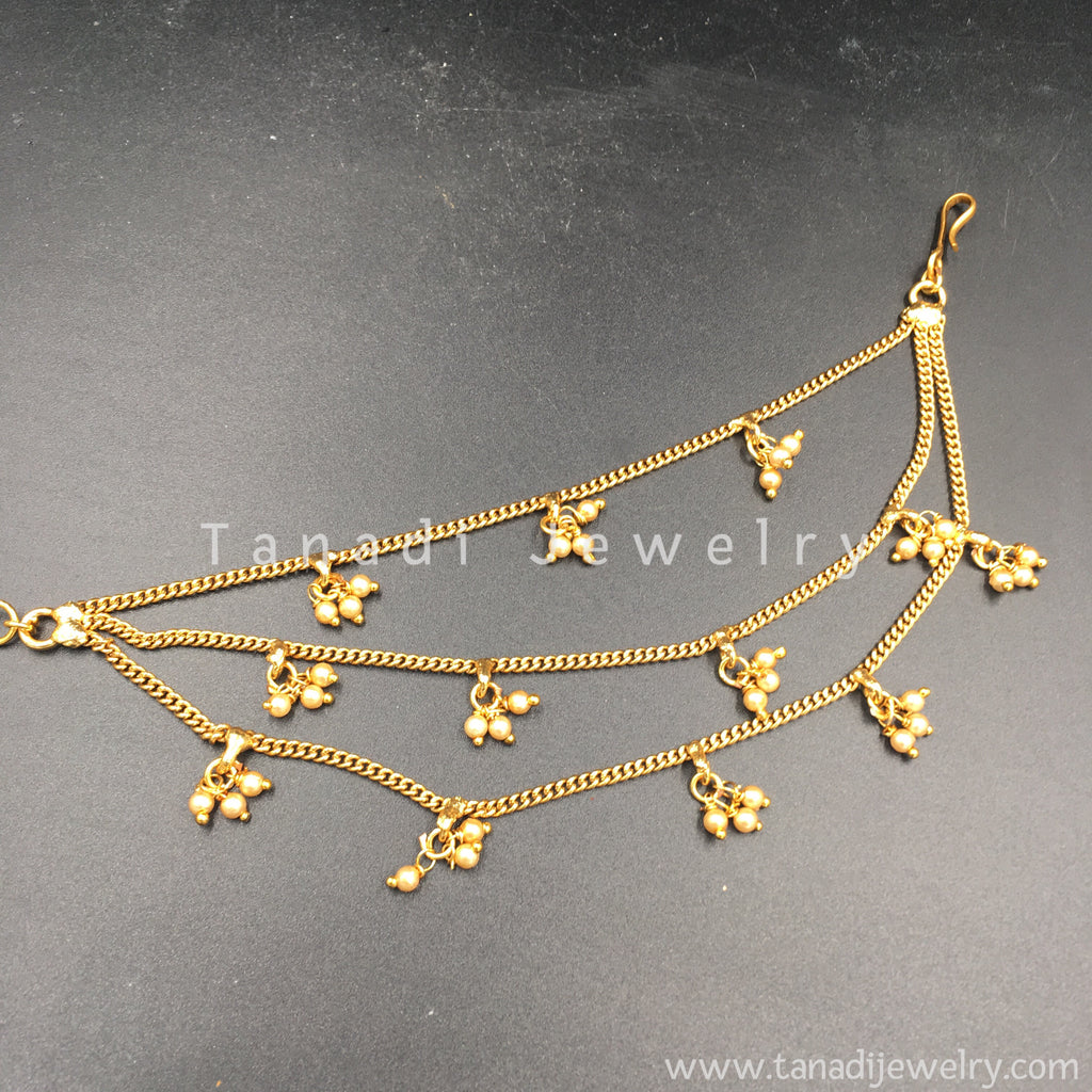 Golden Earchain with Moti Clusters - Three Layers