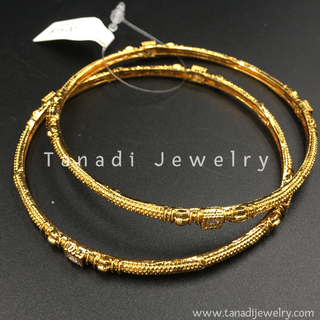 bangle il gold solid thin bangles fullxfull listing zoom one