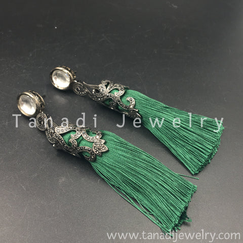 Tassel Earring - Green