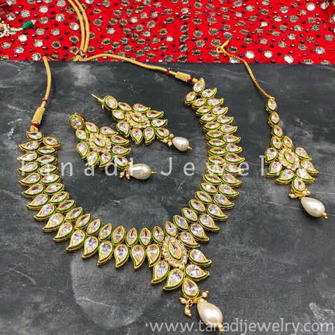 2 line Koiree Kundan Necklace