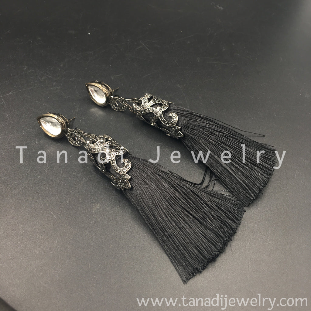 Tassel Earring - Black