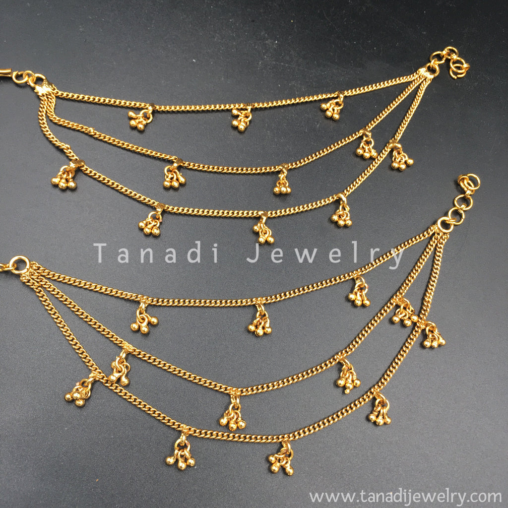 Golden Earchain with golden Clusters - Three Layers