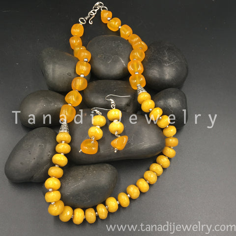 Beads Mala - Single Line - Yellow