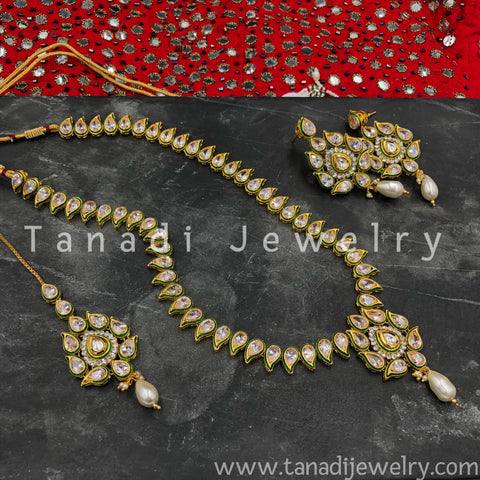 Long Koiree Kundan Necklace