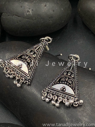 Trendy Oxidised Earrings - 12