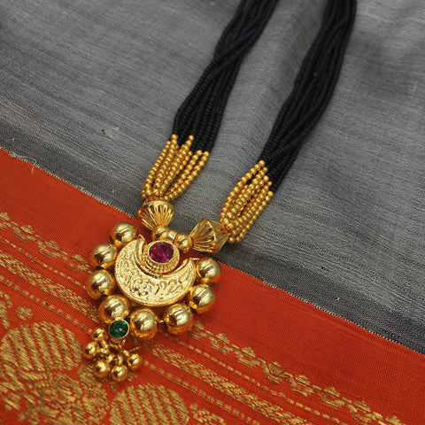 KOPM - Chandrakor with Pink/Green stones and Golden balls