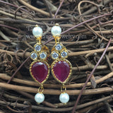 PTH - Tanmani Green, White or Pink Stones with Earrings
