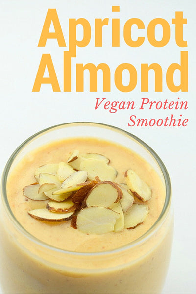 Apricot Almond Vegan Protein Smoothie