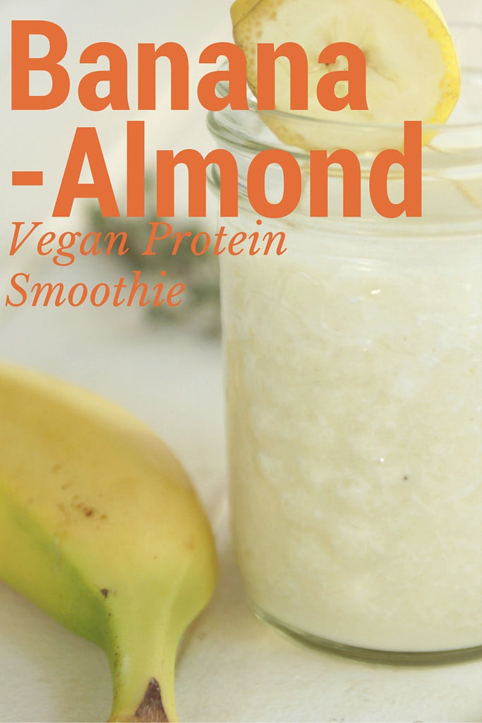 Banana Almond Vegan Protein Smoothie