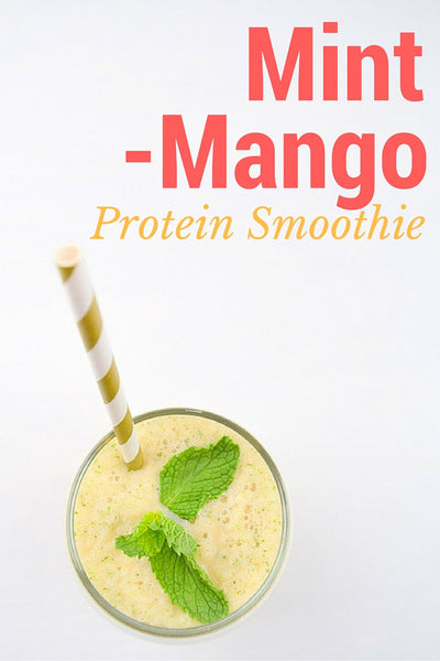 Mint Mango Protein Smoothie