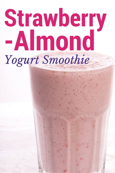 Strawberry Almond Yogurt Smoothie