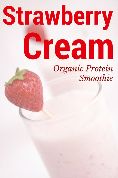 Strawberry Cream Organic Protein Smoothie