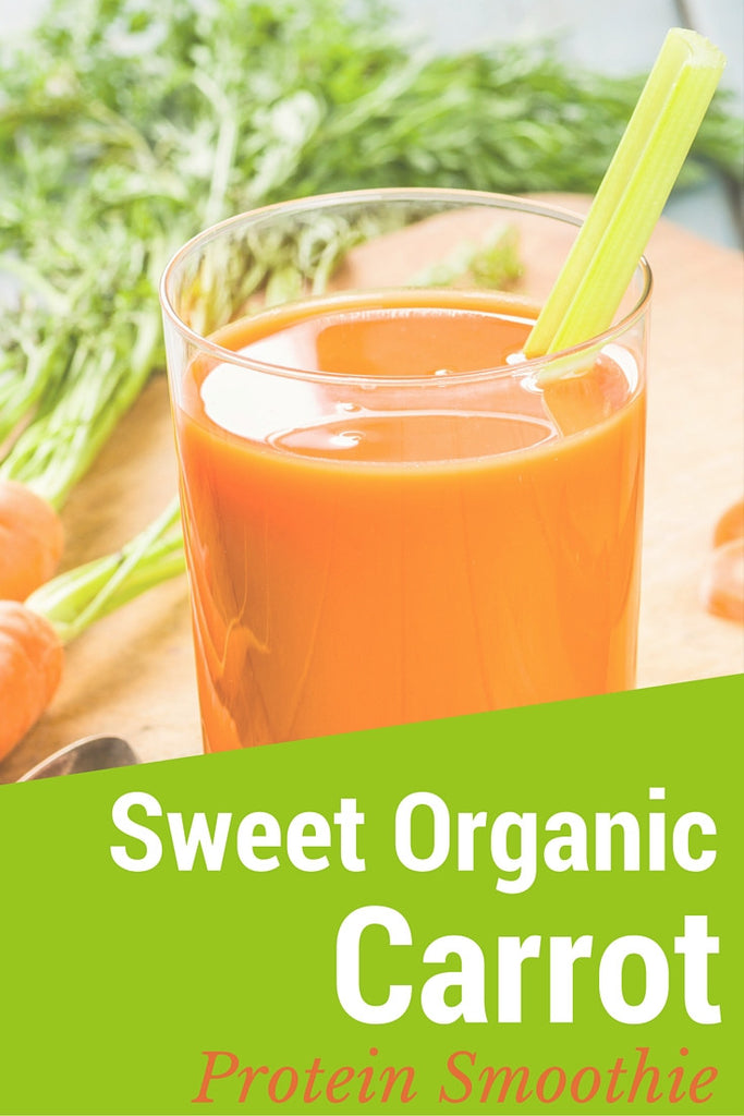 Sweet Organic Carrot Protein Smoothie