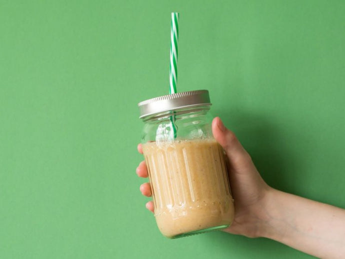 Refuel With This Protein-Packed Peanut Butter And Jam Smoothie Recipe