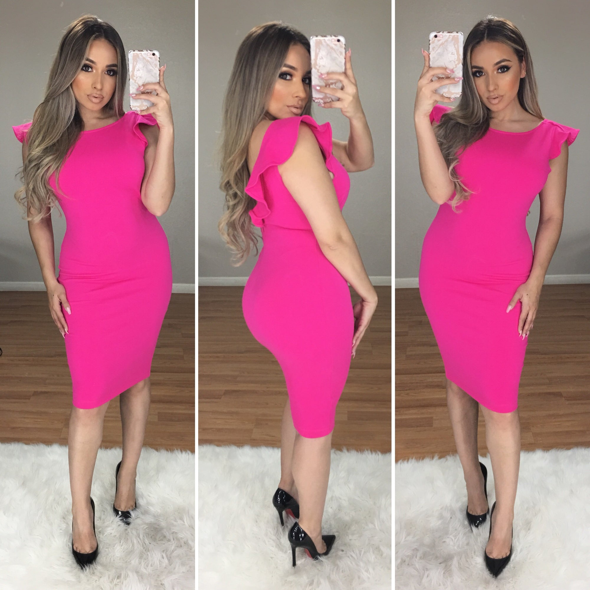 Viva Glam Couture Dress (Hot Pink)