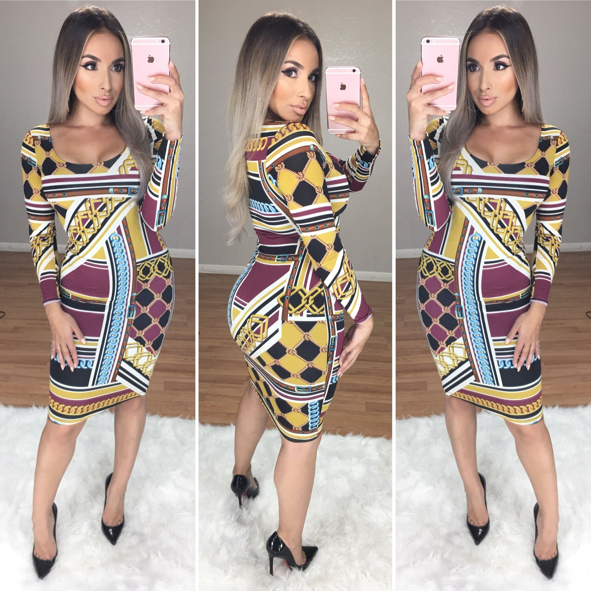 New Icon Midi Dress (9178 Print)