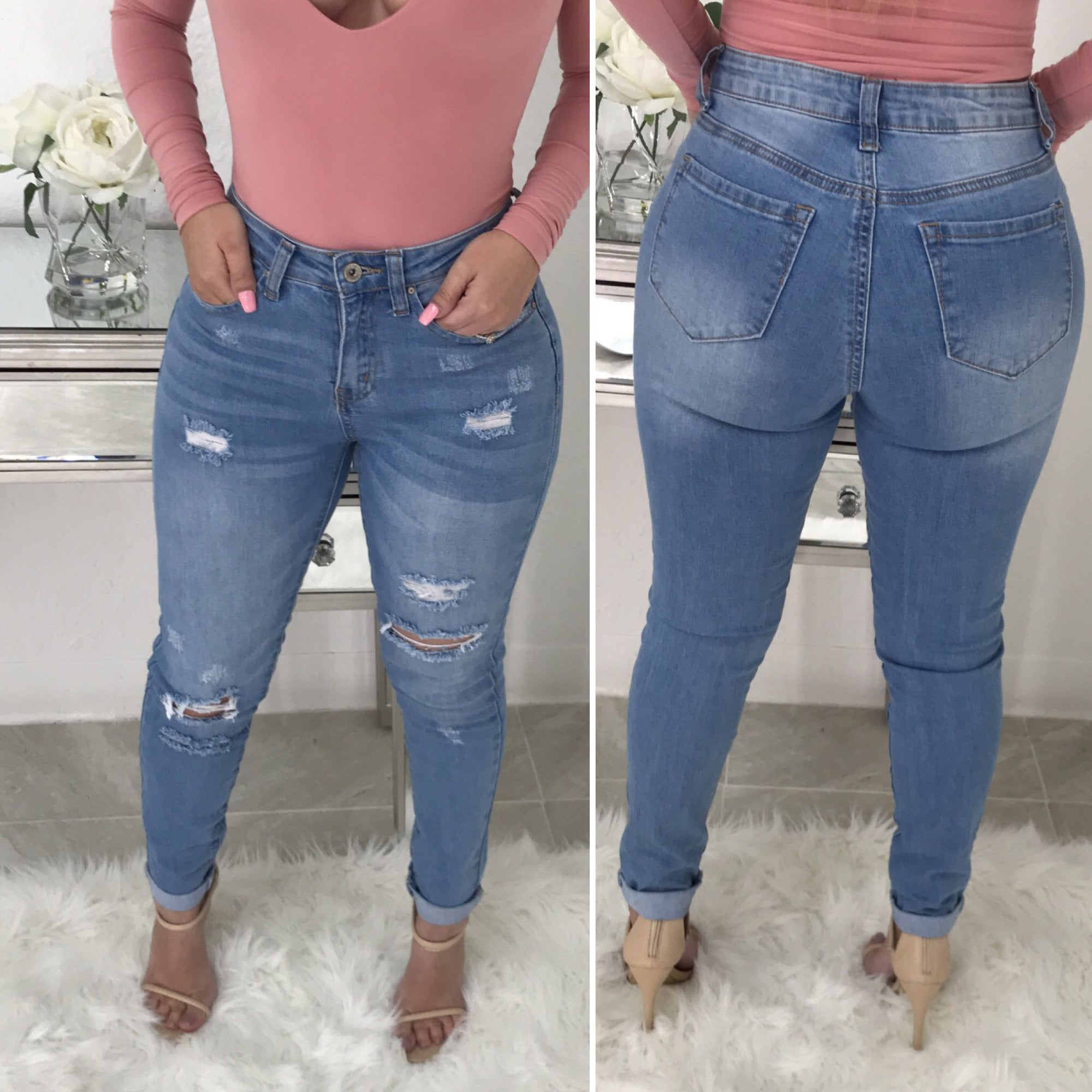 Jeremiah High Waist Jeans (Light Wash)