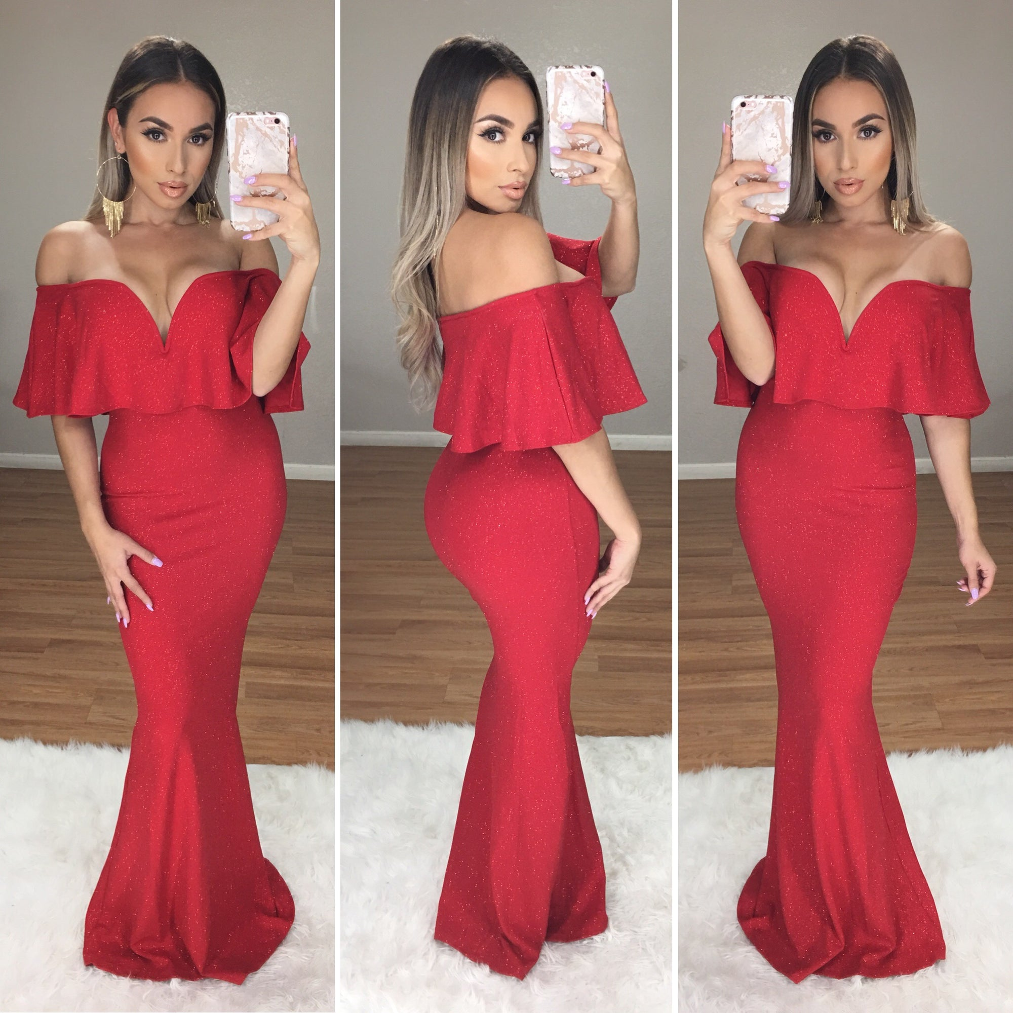 Divina Couture Dress (Red)