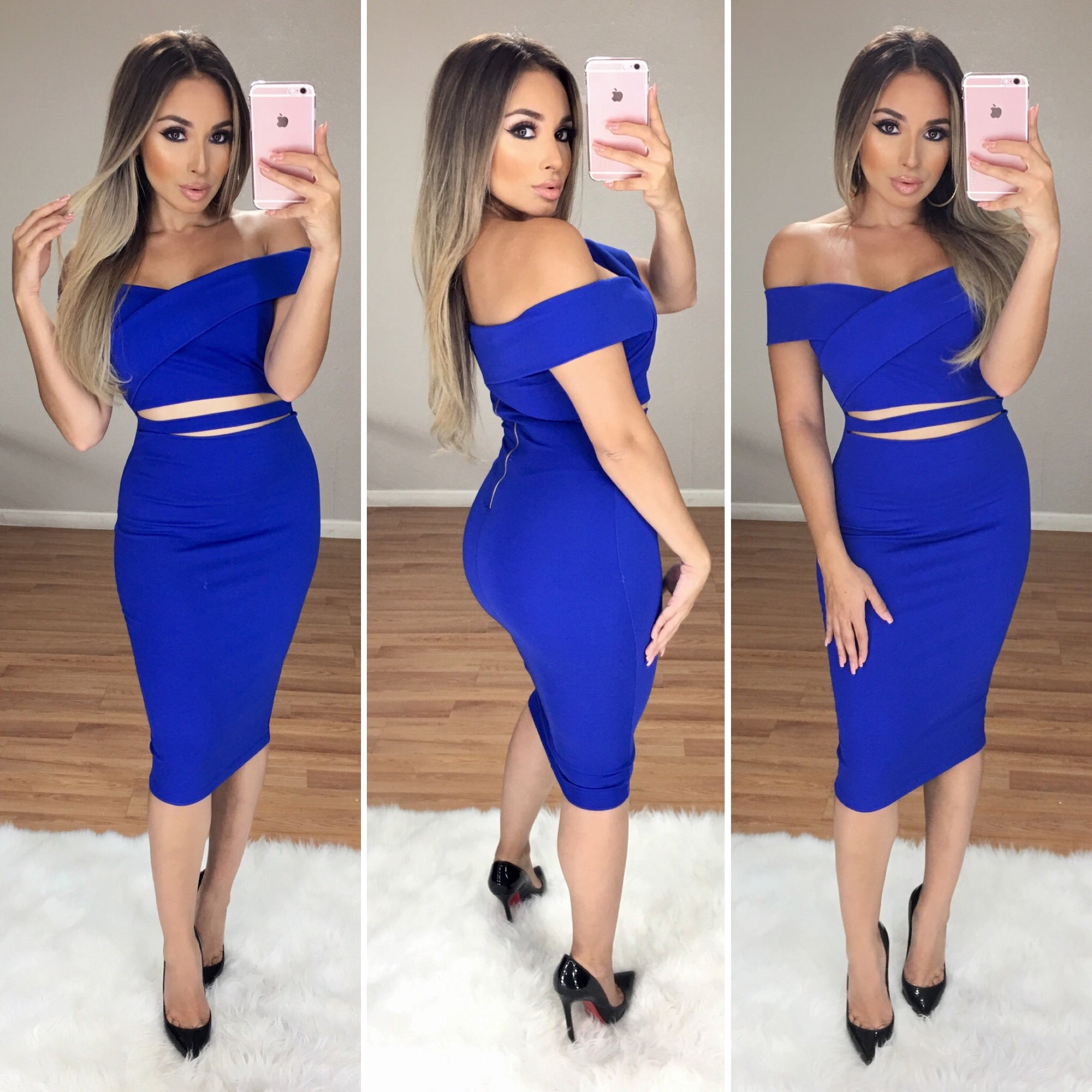 Cut It Out Couture Dress (Royal Blue)