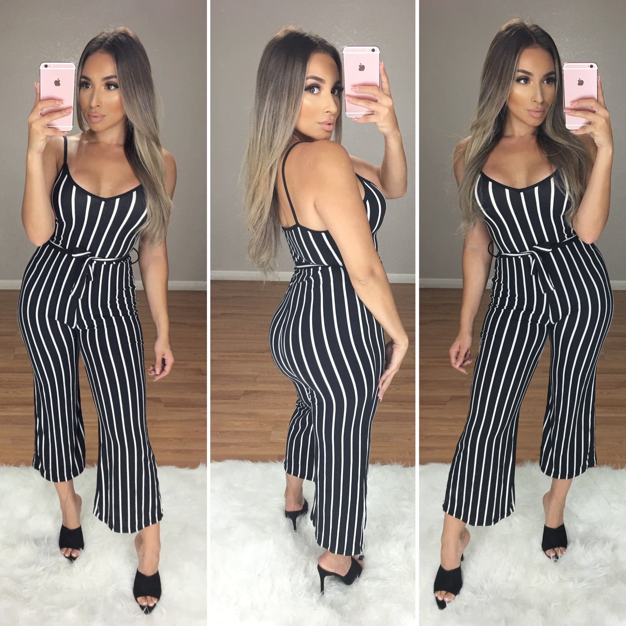 City Babe Striped Jumper (Black/White)
