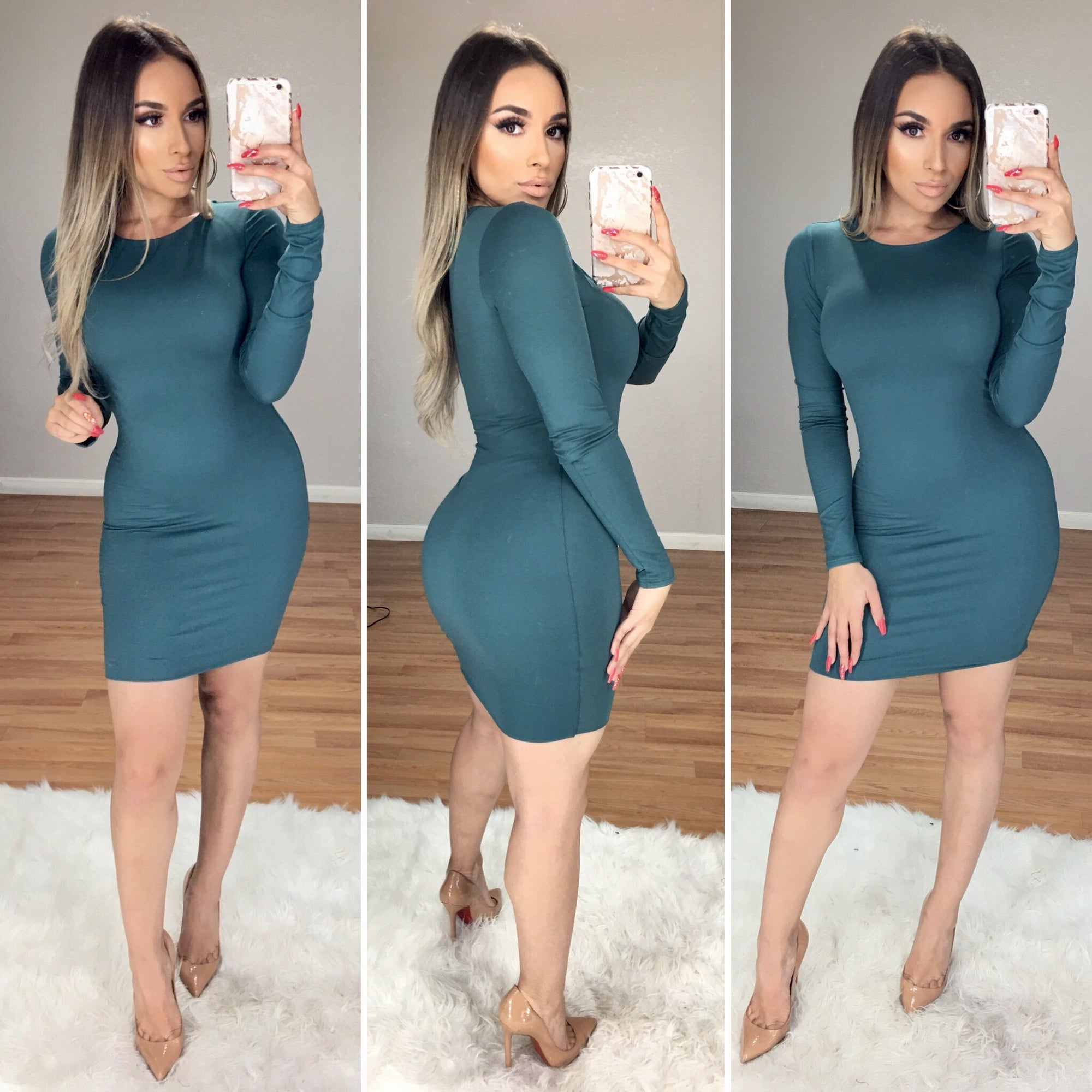 Never Enough Classic Dress (Teal)
