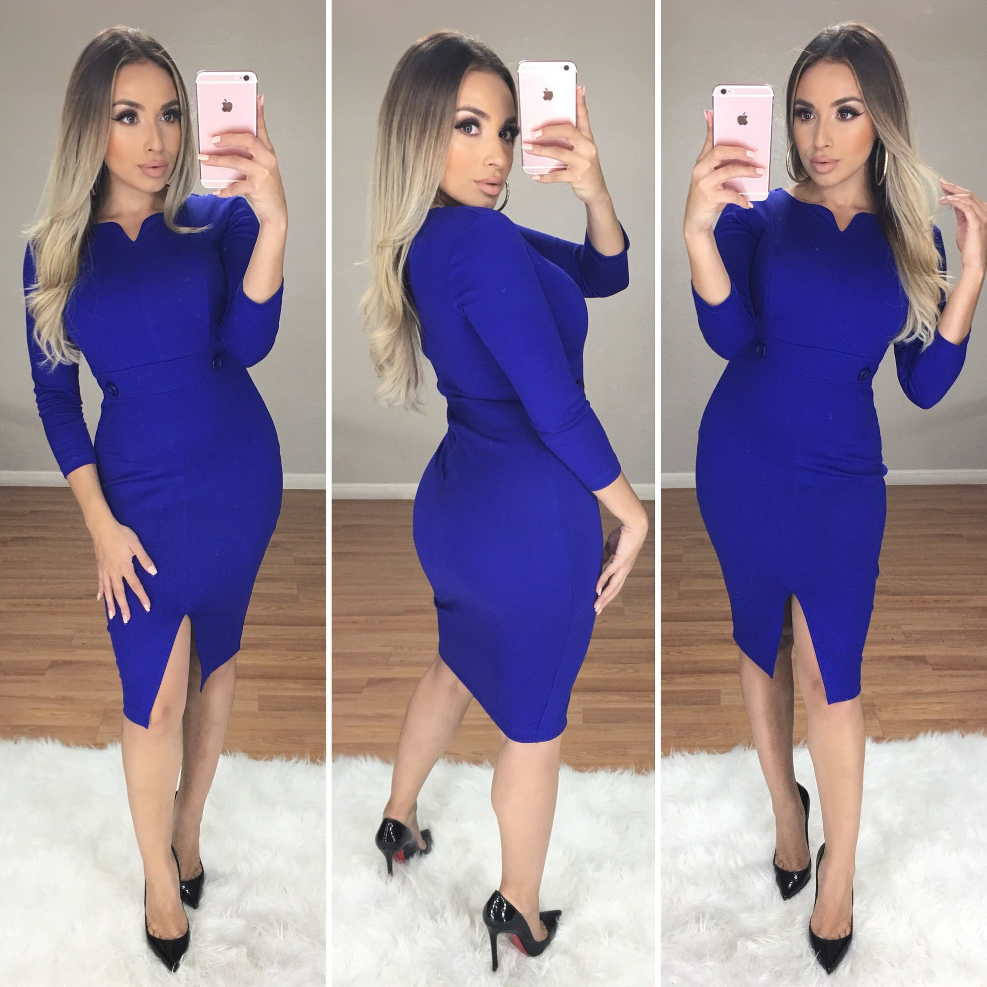 Made For You Couture Dress (Royal Blue)