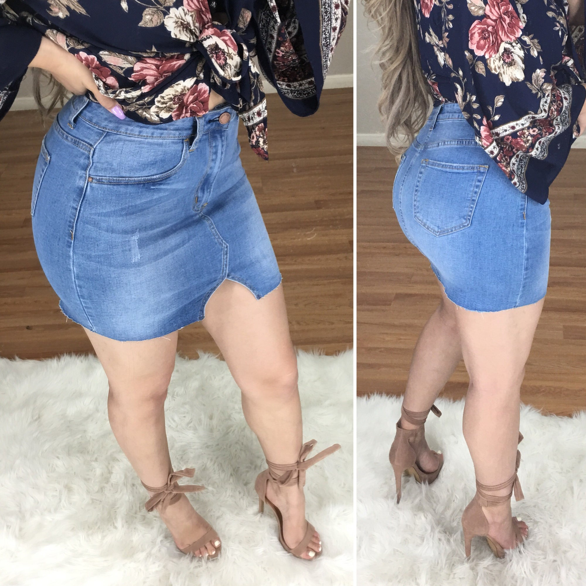 Valenica Denim Mini Skirt (Medium)