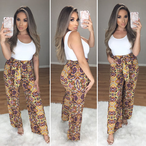 Delilah Paisley High Waist Pants