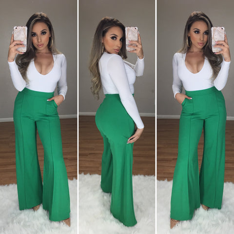 Aaron High Waist Pants (Green)
