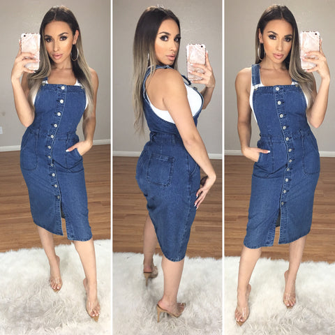 Stella Denim Midi Dress