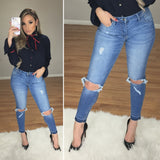 Frankie Mid Rise Jeans (Medium Wash)