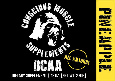 Conscious Muscle Supplements BCAA – Pineapple