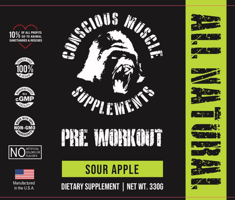 Vegan Pre Workout Sour Green Apple