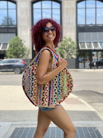 The multicolored Pentagon Tote