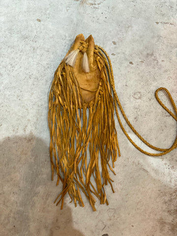Fringe Leather Pouch
