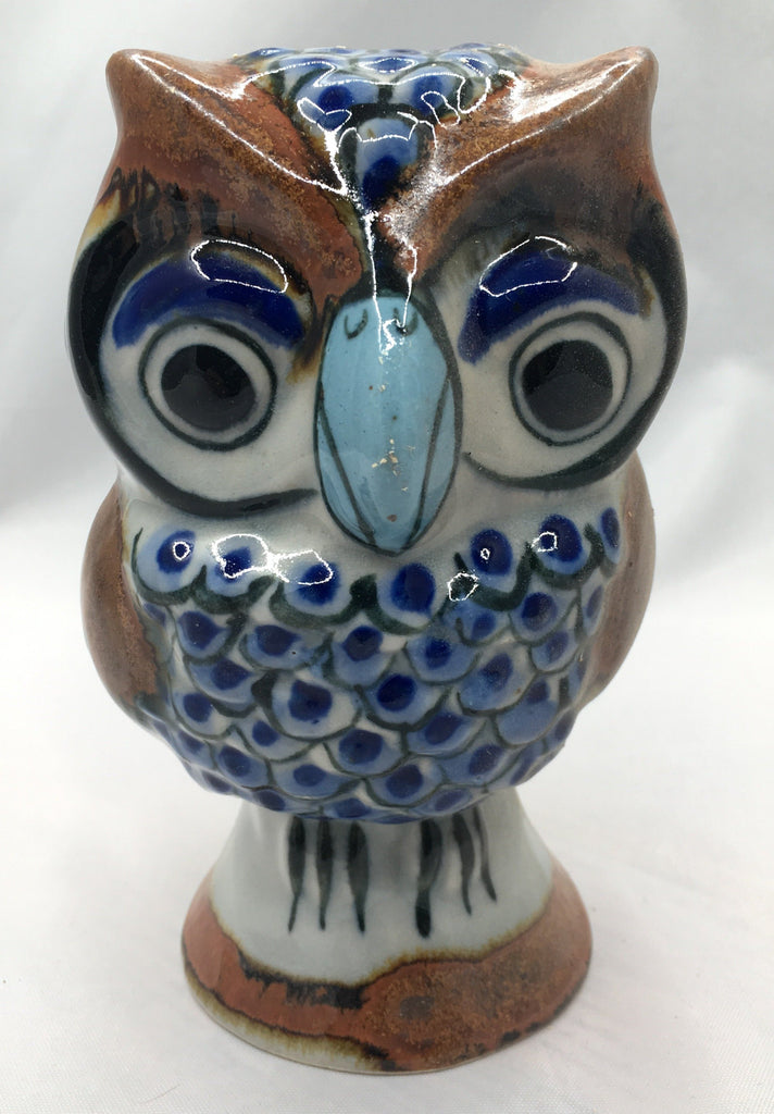 Ken Edwards Pottery Owl Figurine On Base (KE.E39)