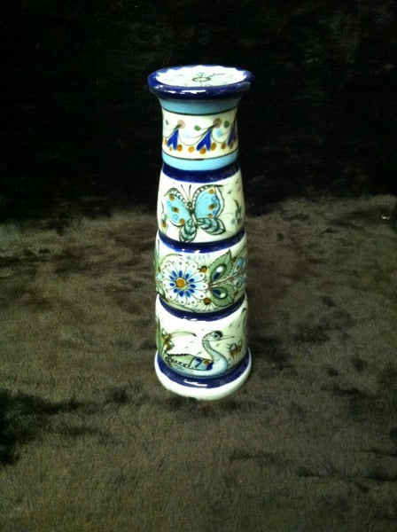 Ken Edwards Collection Large Banded Candleholder