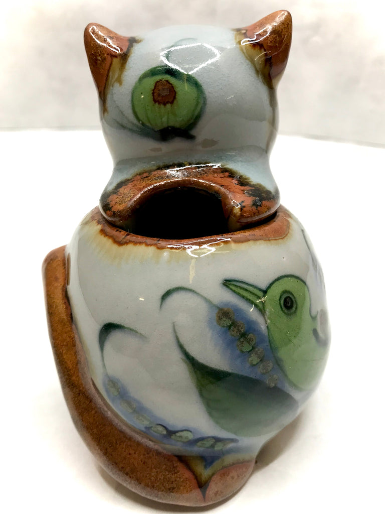 Ken Edwards Cat Sugar Bowl with Cat's Head Lid (KE.UV23)