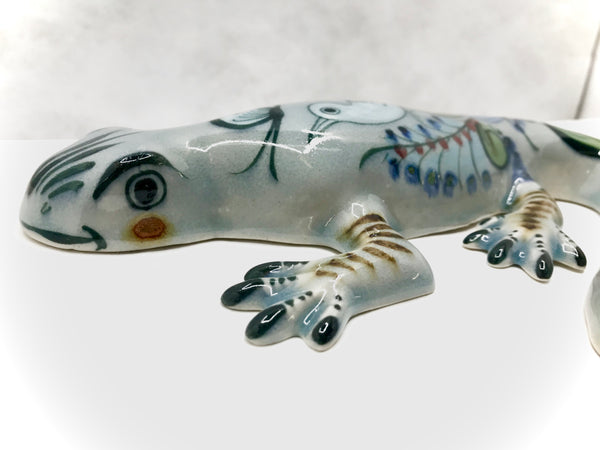 Ken Edwards pottery Hanging Salamander in stoneware from Mexico (KE.E42)