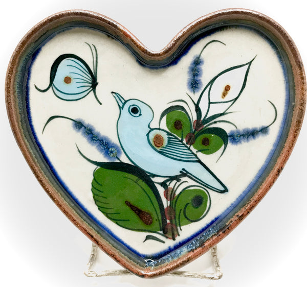 Heart shaped Ken Edwards Pottery tray, Medium size.