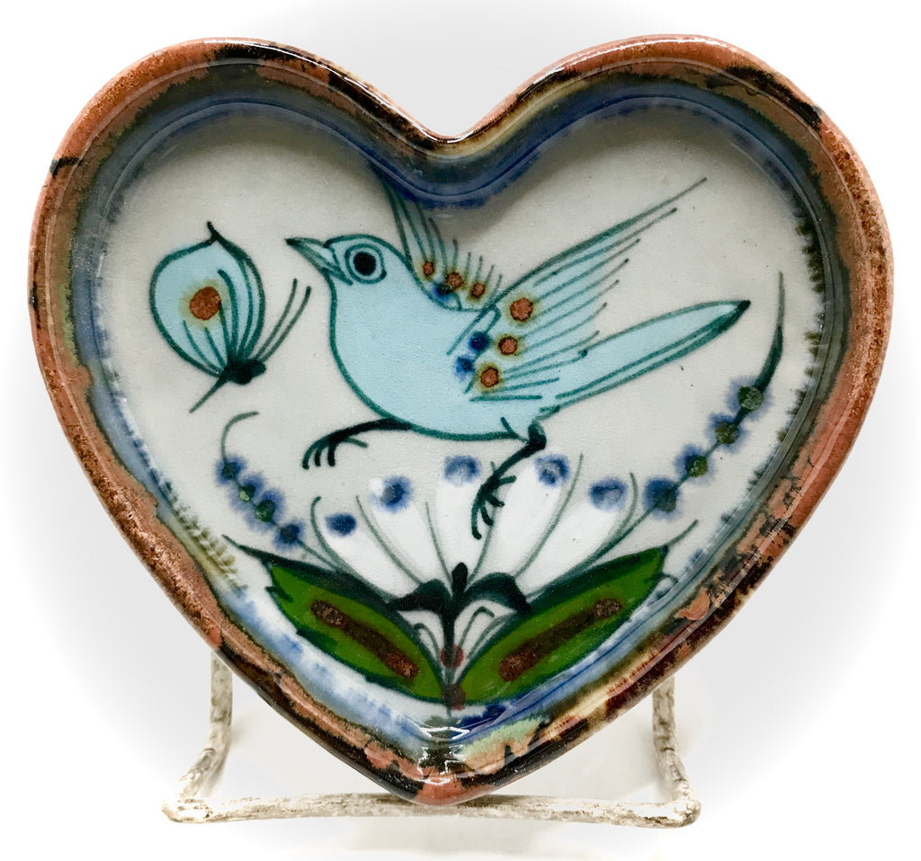 Heart shaped Ken Edwards Pottery tray, small