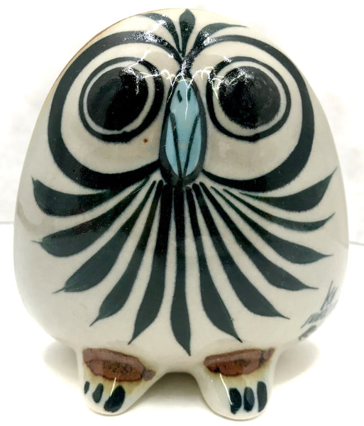 Ken Edwards Pottery Extra Small Round Face Owl Figurine (KE.E63)